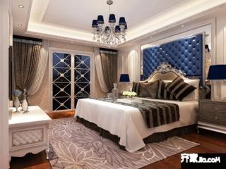 三居室简欧风格卧室装修效果图