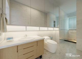 140㎡现代简约三居卫生间装修效果图