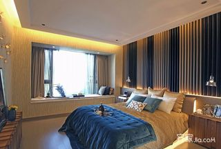 114平混搭风格三居装修飘窗设计图