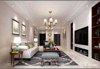 117平美式风格三居装修效果图