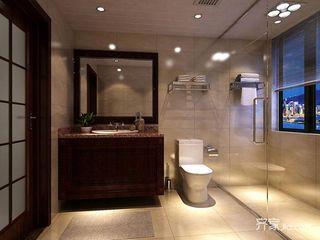 东南亚风格四房装修卫生间效果图