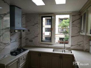 88平米欧式二居室装修厨房构造图