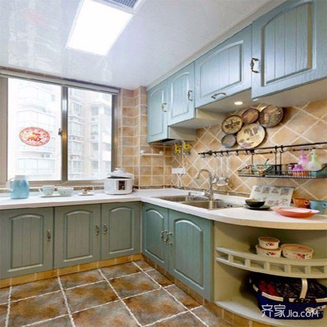118平地中海二居装修厨房设计图