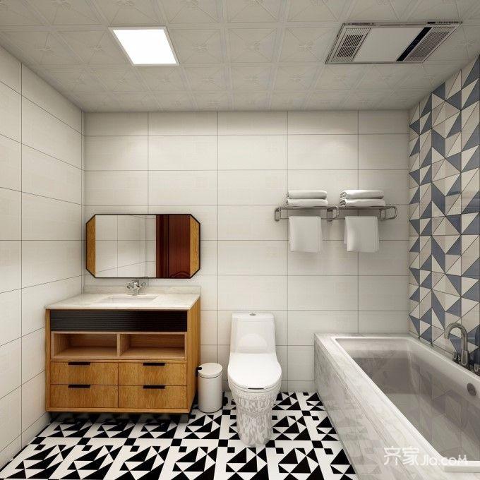 60平米宜家风格卫生间装修效果图