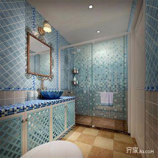 地中海风格两居室卫生间装修效果图