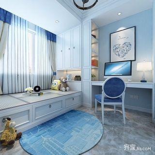 地中海风格两居室书房装修效果图