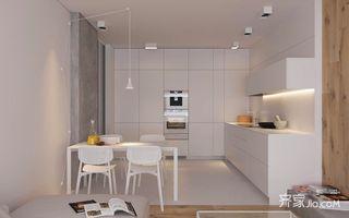 小户型极简风格厨餐厅装修效果图