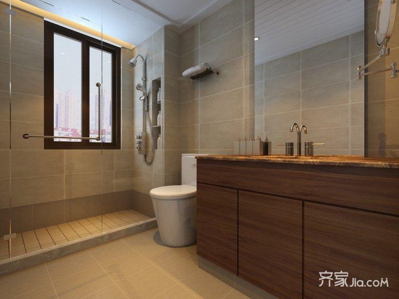 现代简约风格三居卫生间装修效果图