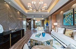 三居室新中式风格装修客厅吊顶设计