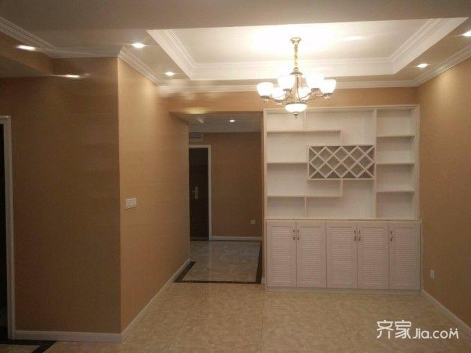 105平简约三房装修酒柜设计