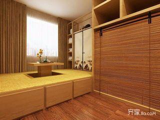 120平中式三居装修榻榻米房效果图