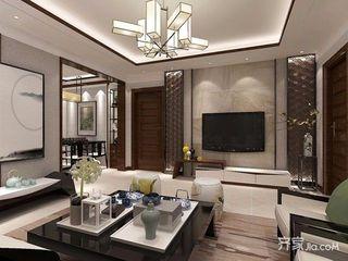 140㎡新中式三居装修效果图