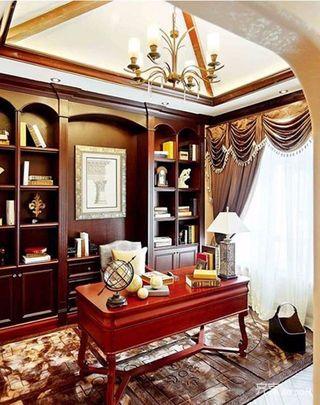 150平复式欧式风格装修书房设计图