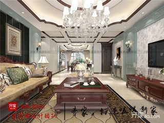 古典美式风格四房客厅装修效果图
