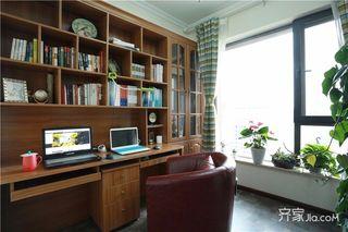 美式乡村风格三居装修书房设计图