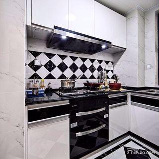 98㎡简约二居室装修厨房搭配图