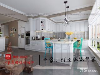 140平三居室混搭厨房装修效果图