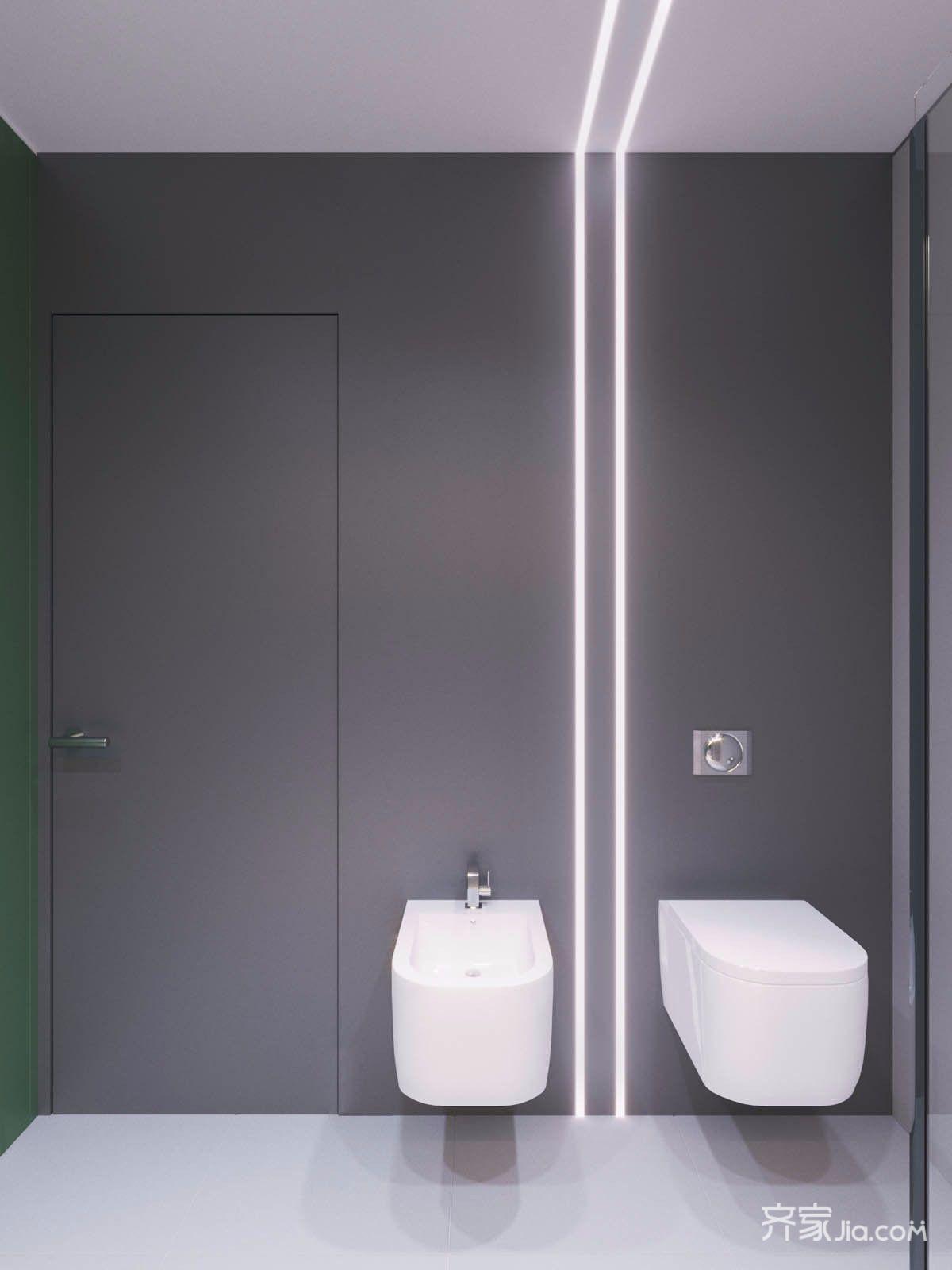 小户型北欧风公寓装修卫生间效果图