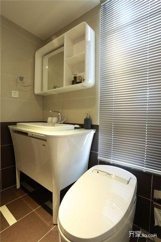 120㎡简约北欧风装修浴室柜图片