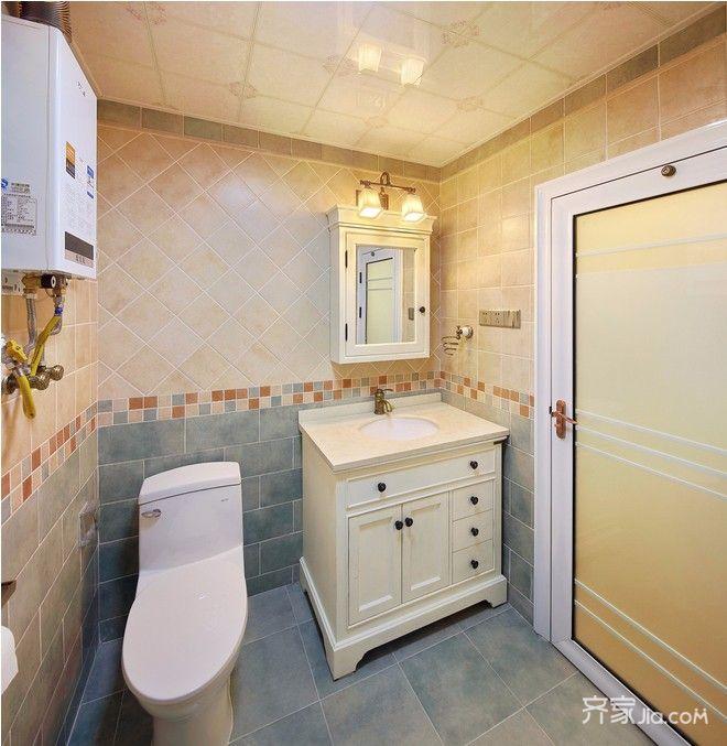 两居室美式风格家浴室柜图片
