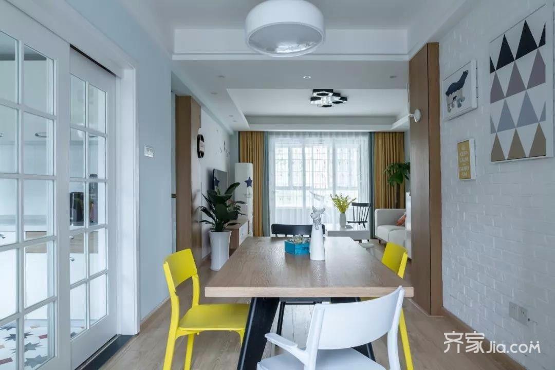 两居室北欧风格家餐桌图片
