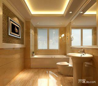 三居室复式混搭卫生间装修效果图