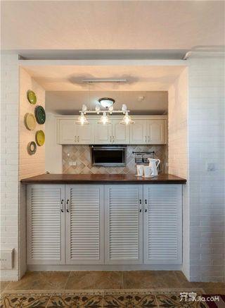 118平清新美式风装修吧台设计图