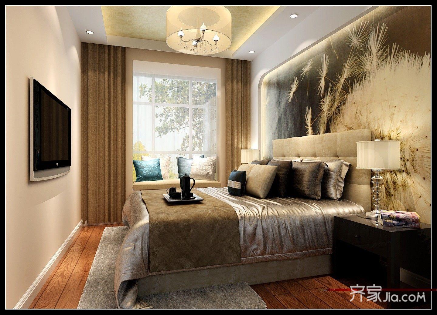 现代简约二居室卧室效果图