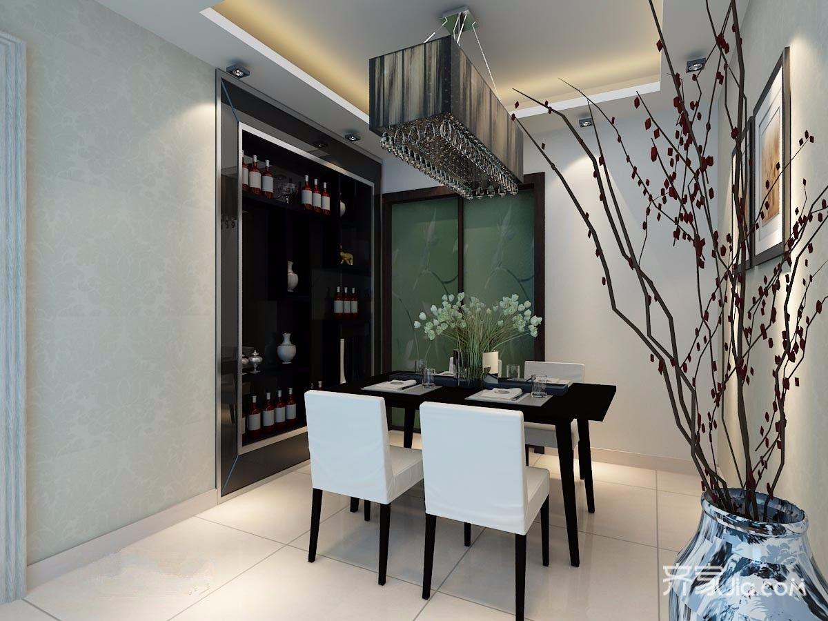 125平现代简约装修餐厅效果图