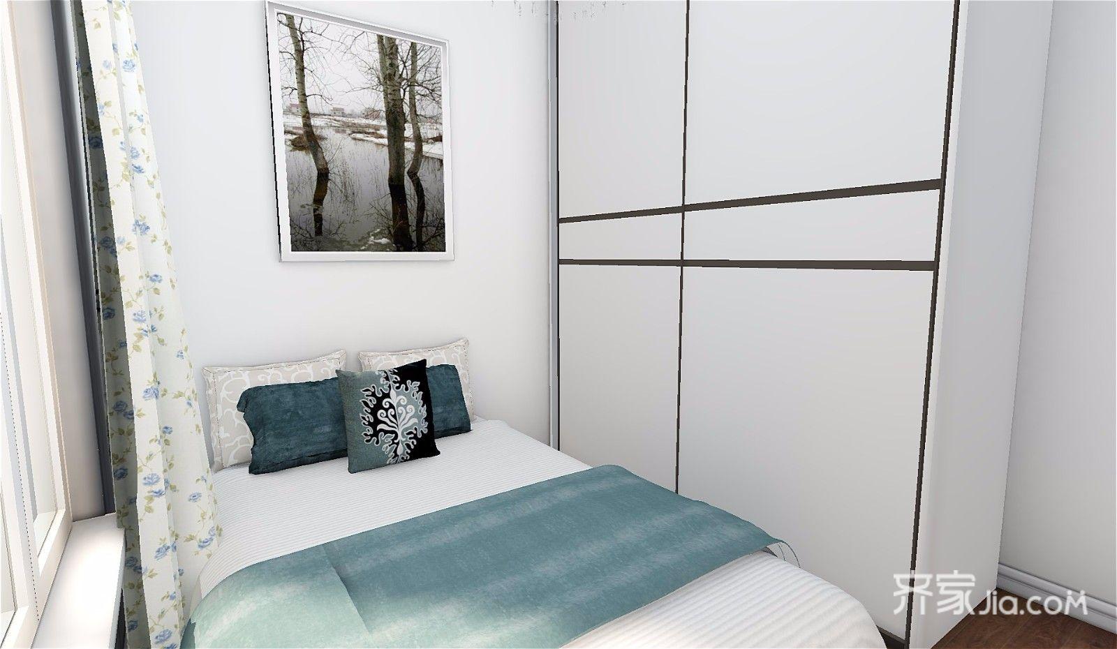 73平简约三居室装修衣柜设计效果图