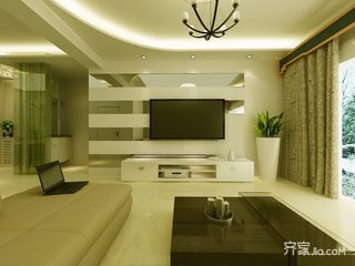 90平簡約二居室裝修電視背景墻