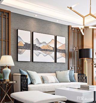三居室中式装修沙发背景墙