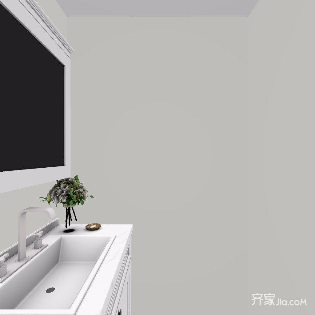 90平简约装修卫生间洗手台图片