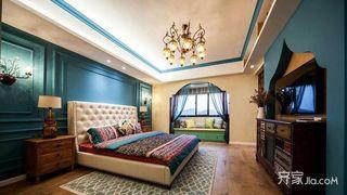 东南亚异域风情家卧室背景墙