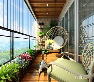 二居室田园风格家阳台欣赏图