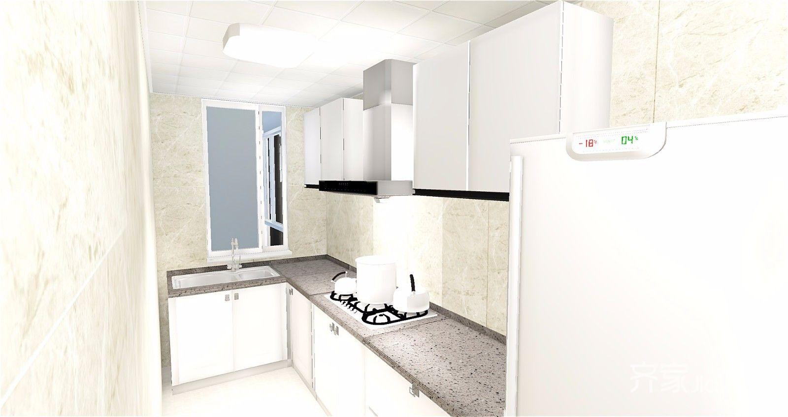 65平简约风格公寓厨房装修效果图