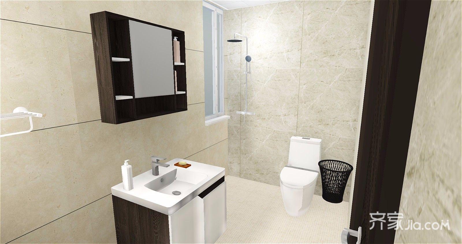 65平简约风格公寓卫生间装修效果图