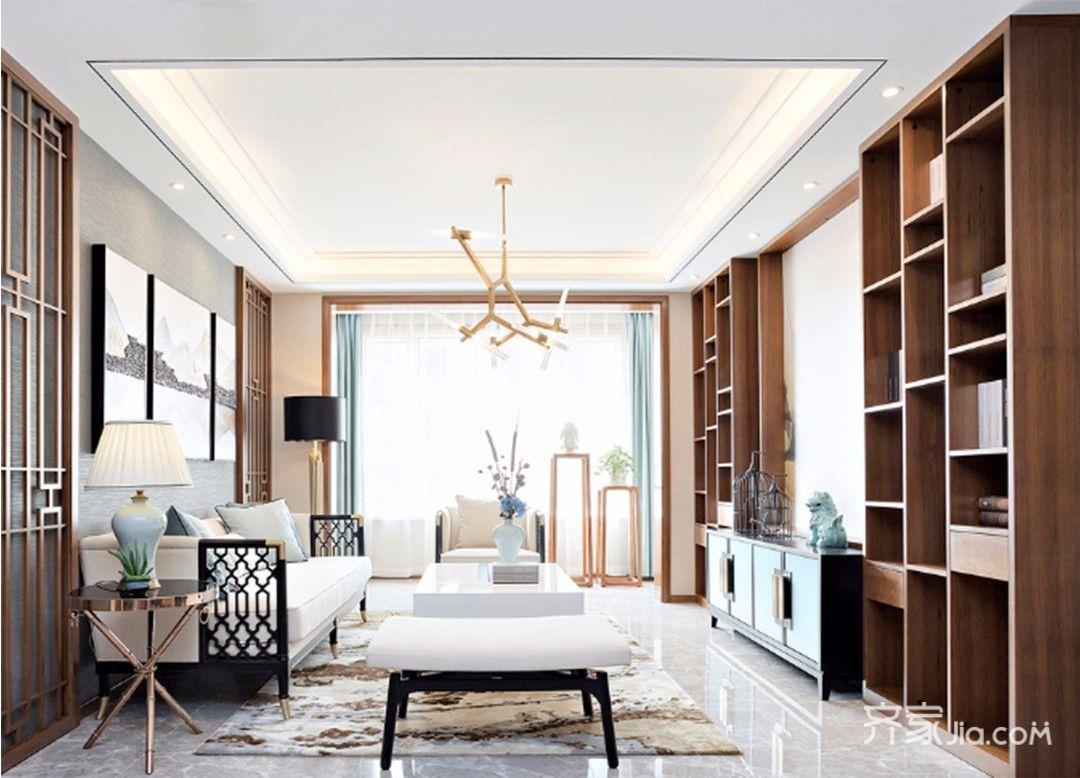 90平中式风格家卧室效果图