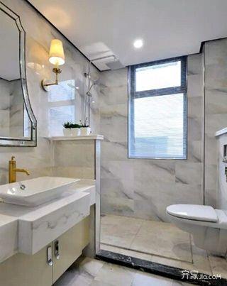 简欧三居室装修卫生间设计图