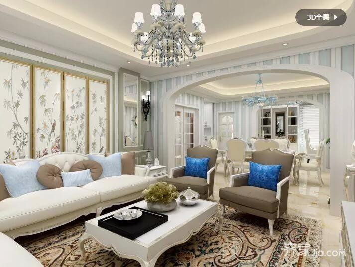 地中海风情装修客厅效果图