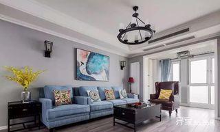 三居室美式空间沙发图片