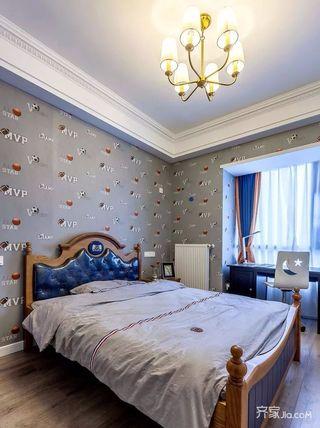 美式三居室设计次卧欣赏图