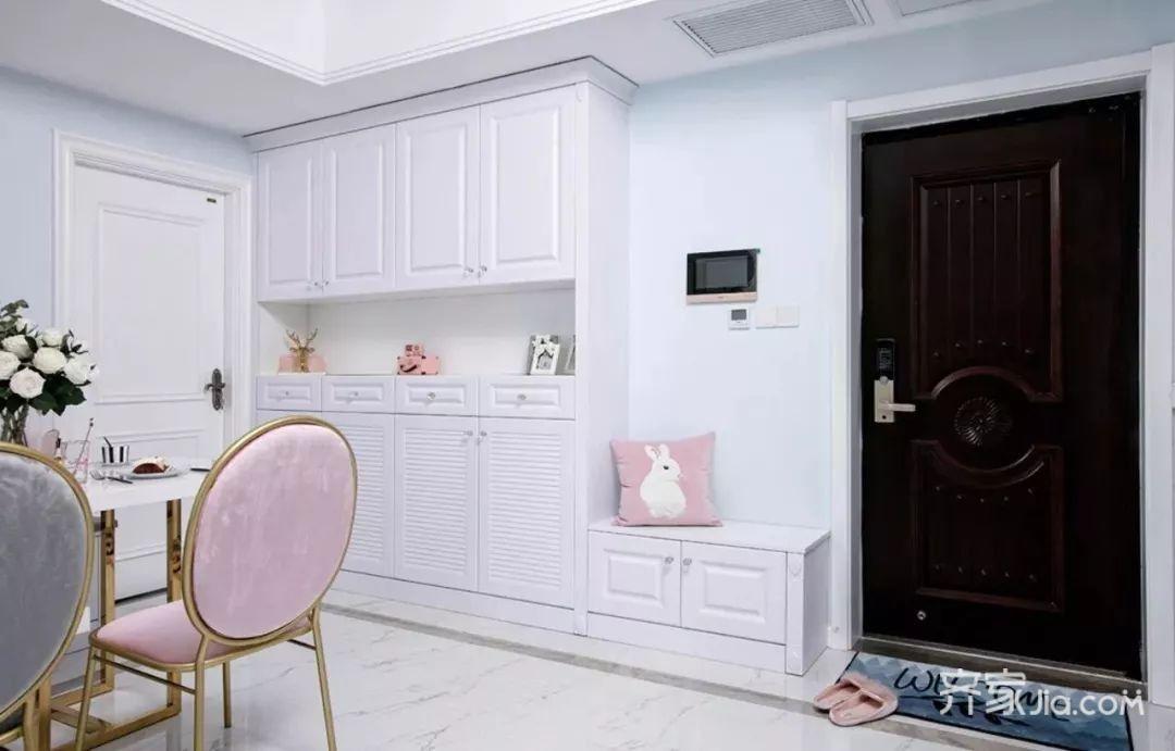 二居室法式混搭装修玄关