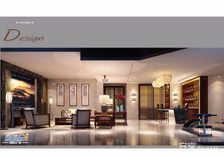 中式别墅设计地下室效果图