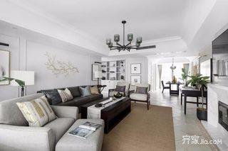 160㎡美式风格装修客厅效果图