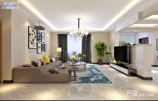 138㎡现代简约风格装修客厅效果图
