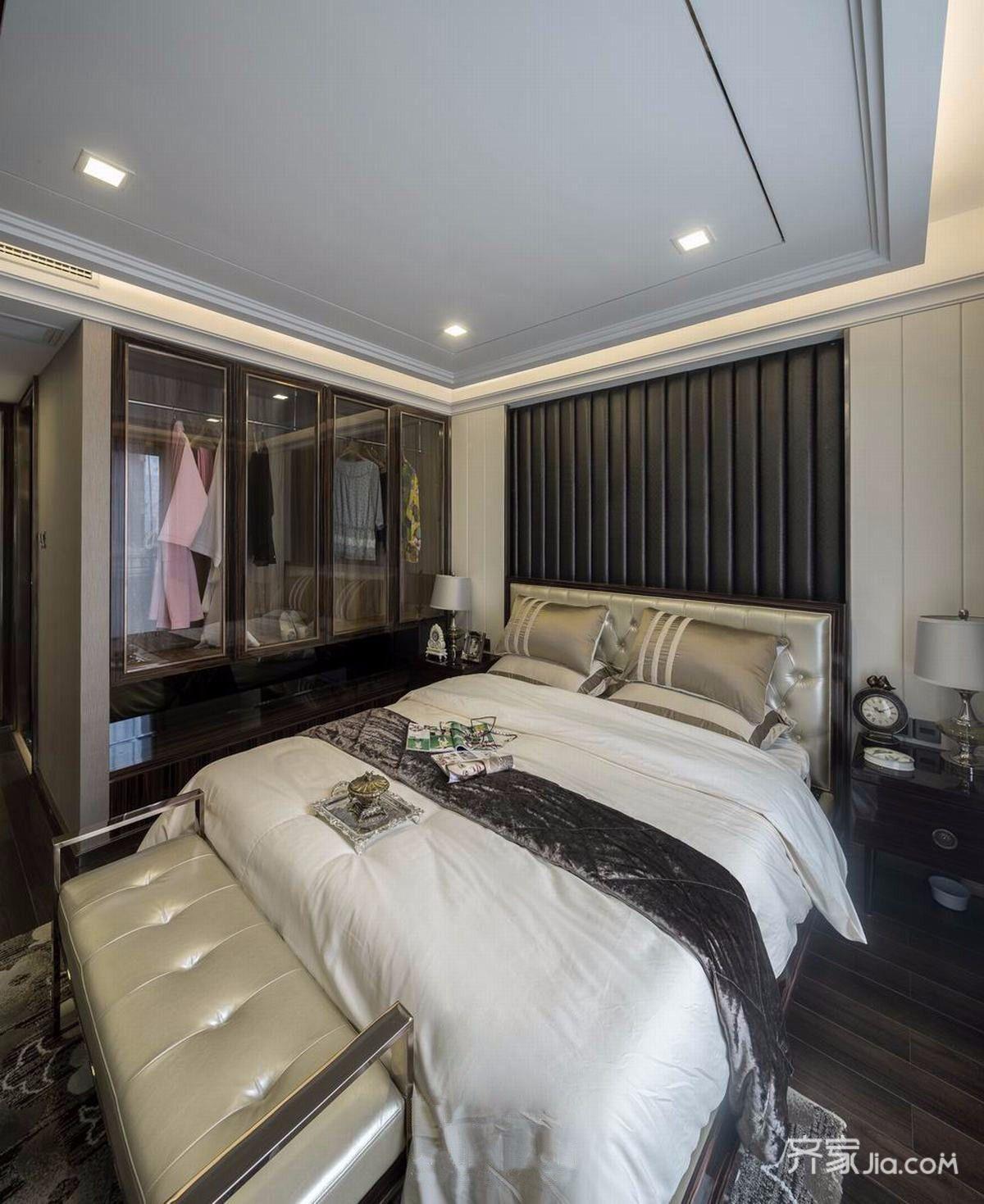 90平简约风装修卧室设计图