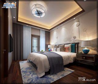 170平中式别墅设计卧室效果图