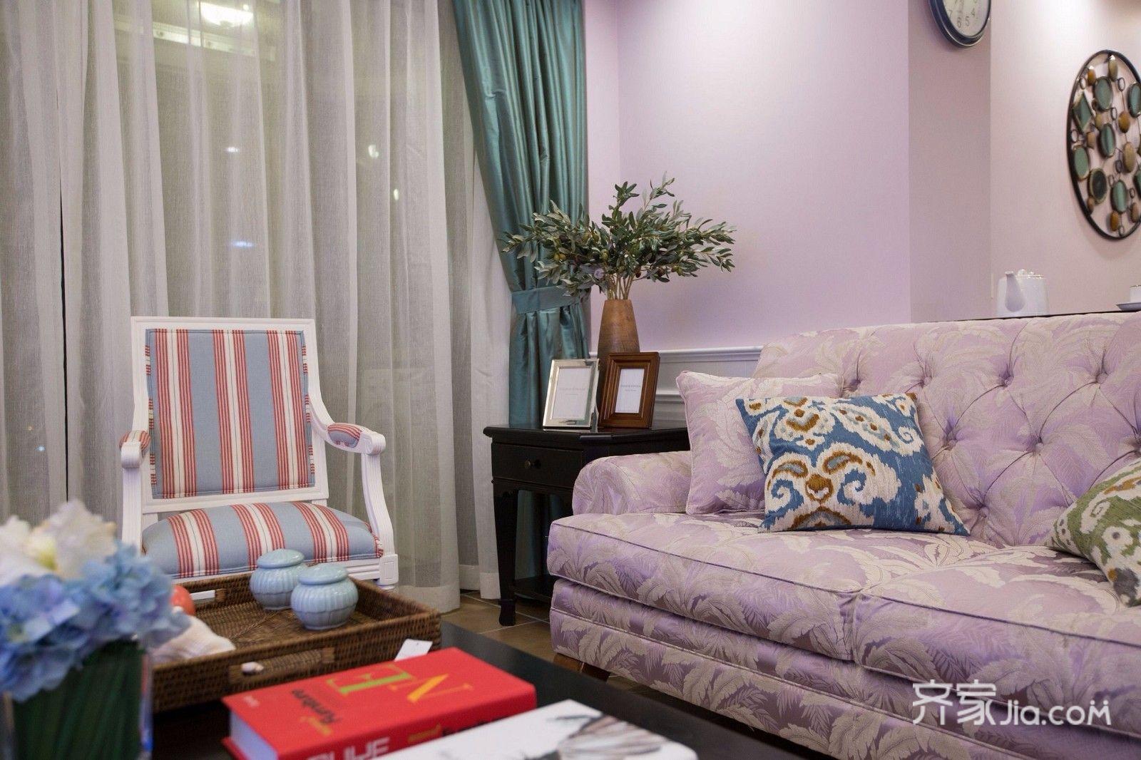二居室温馨美式沙发图片
