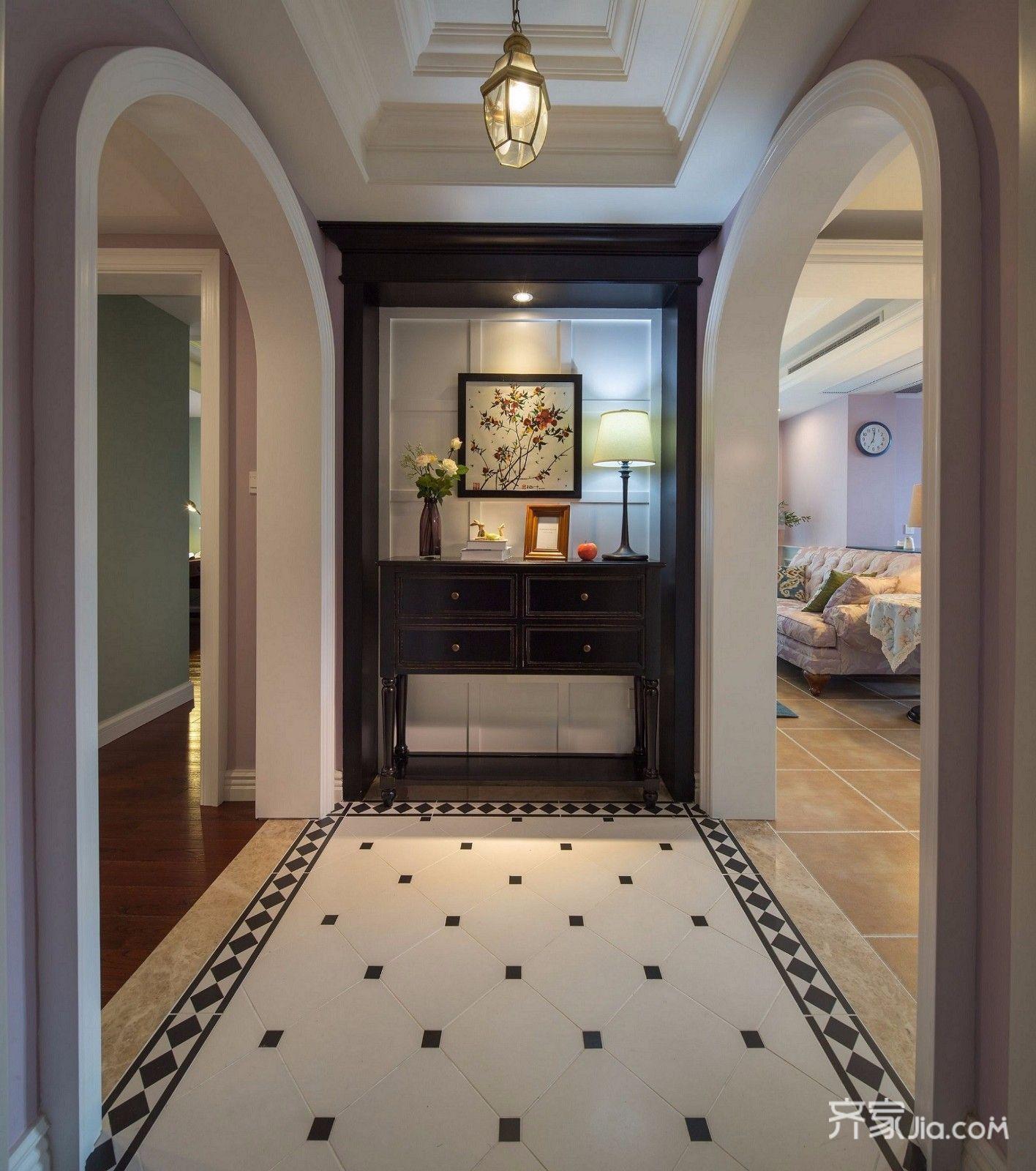 二居室温馨美式装修玄关
